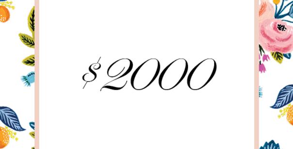$2000 Deposit