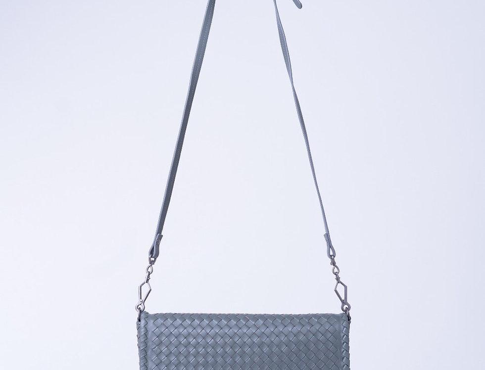手工編織設計手拿和斜背真皮包