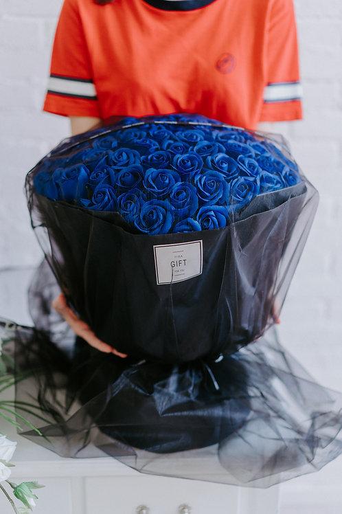 現貨- 99支韓式永久香薰玫瑰花束(藍色)