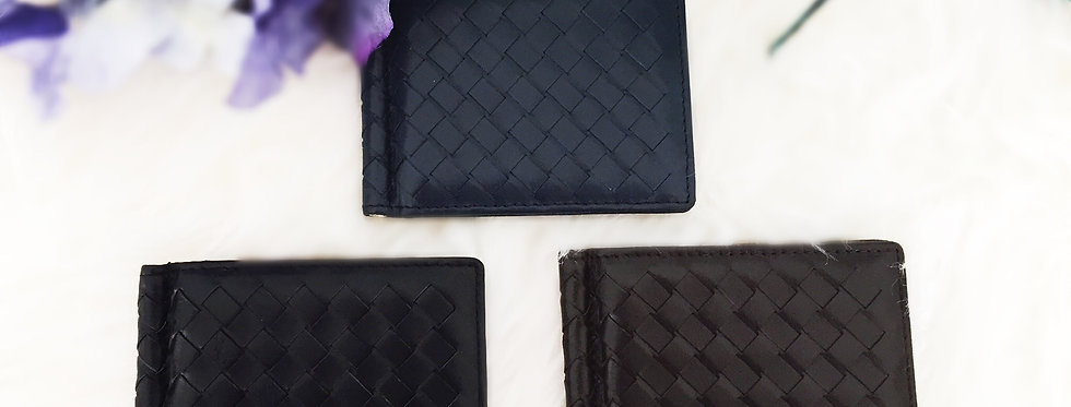 手工編織紙幣卡片羊皮包