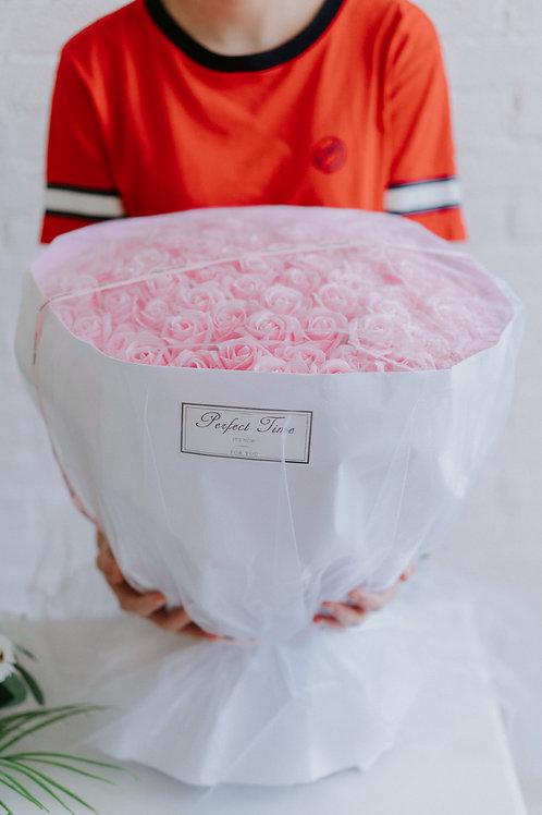 現貨- 99支韓式永久香薰玫瑰花束(粉紅色)