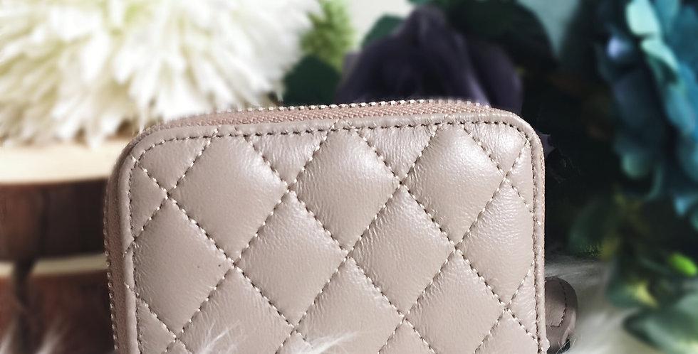 菱格車縫羊皮卡片包