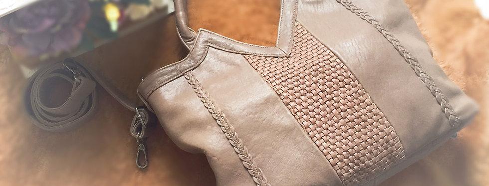手工編織羊皮設計包