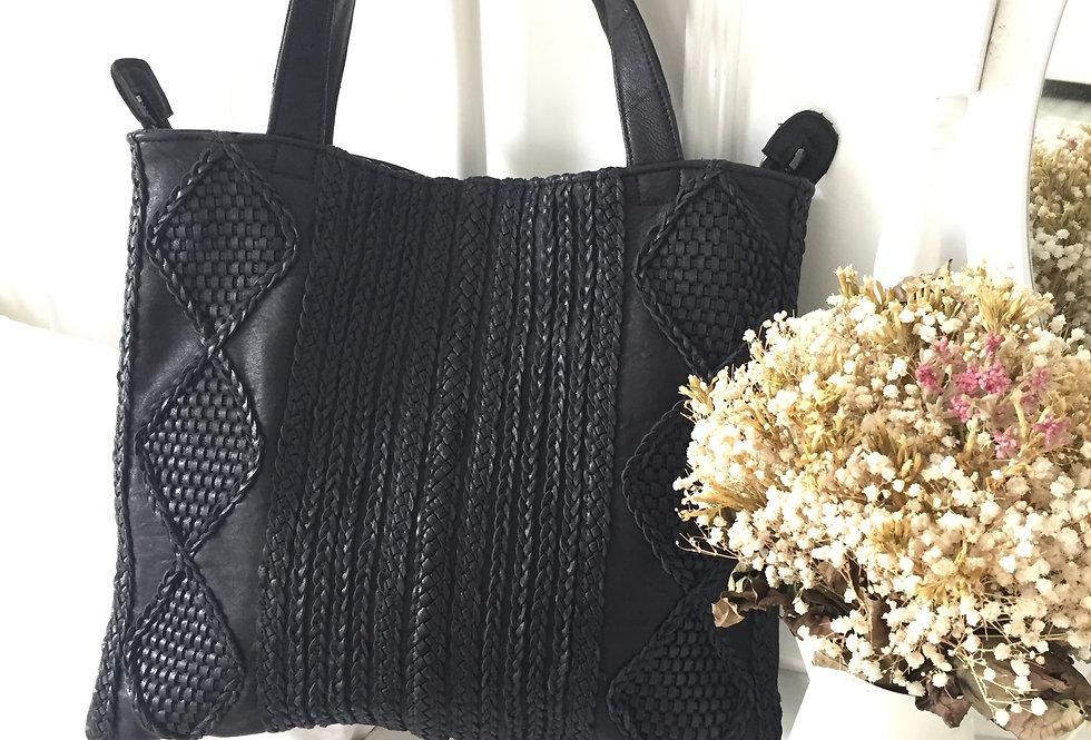 獨特手工編織羊皮包