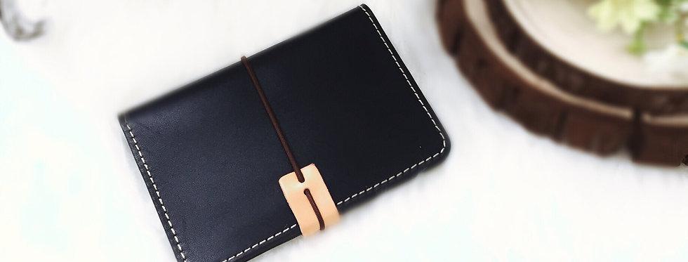 日式手工牛皮護照夾
