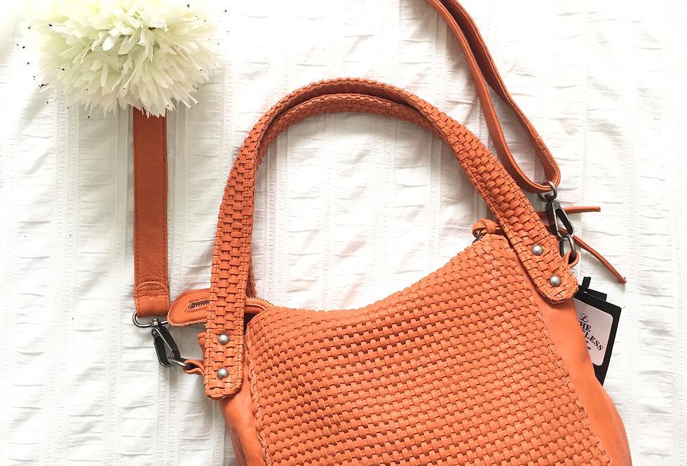 手工編織羊皮斜揹手挽包