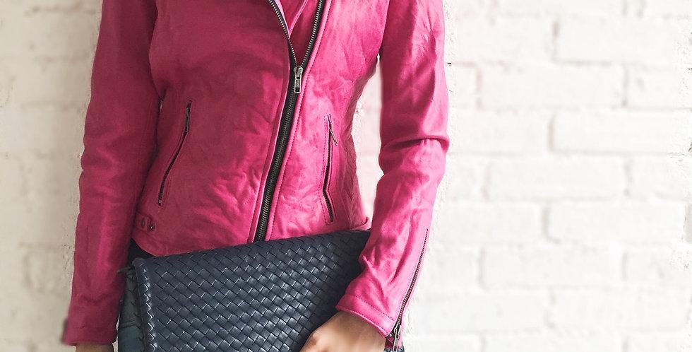 手工編織設計手拿和斜背所真皮包