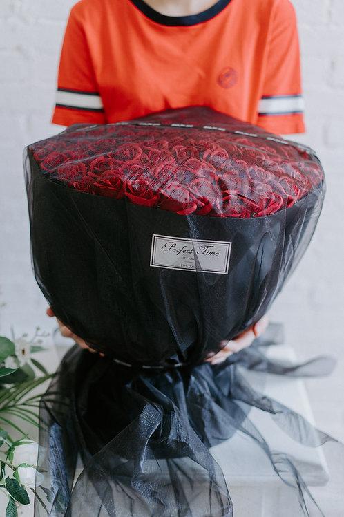 現貨- 99支韓式永久香薰玫瑰花束(紅色)