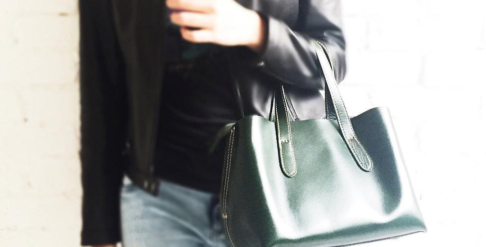 日式牛皮手提包