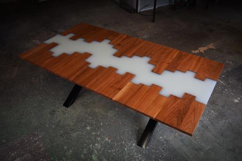 Table résine & bois