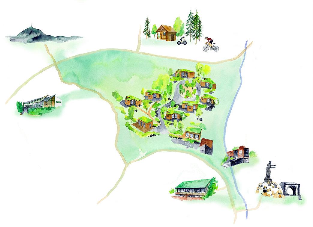 Plan des Lodges Volvic