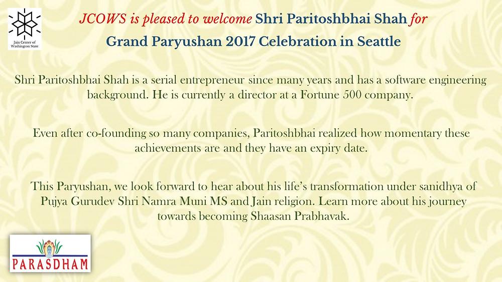 Shashan Prabhavak Paritoshbhai Shah Intro