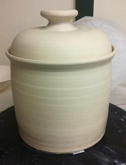 Assembled fermenting crock