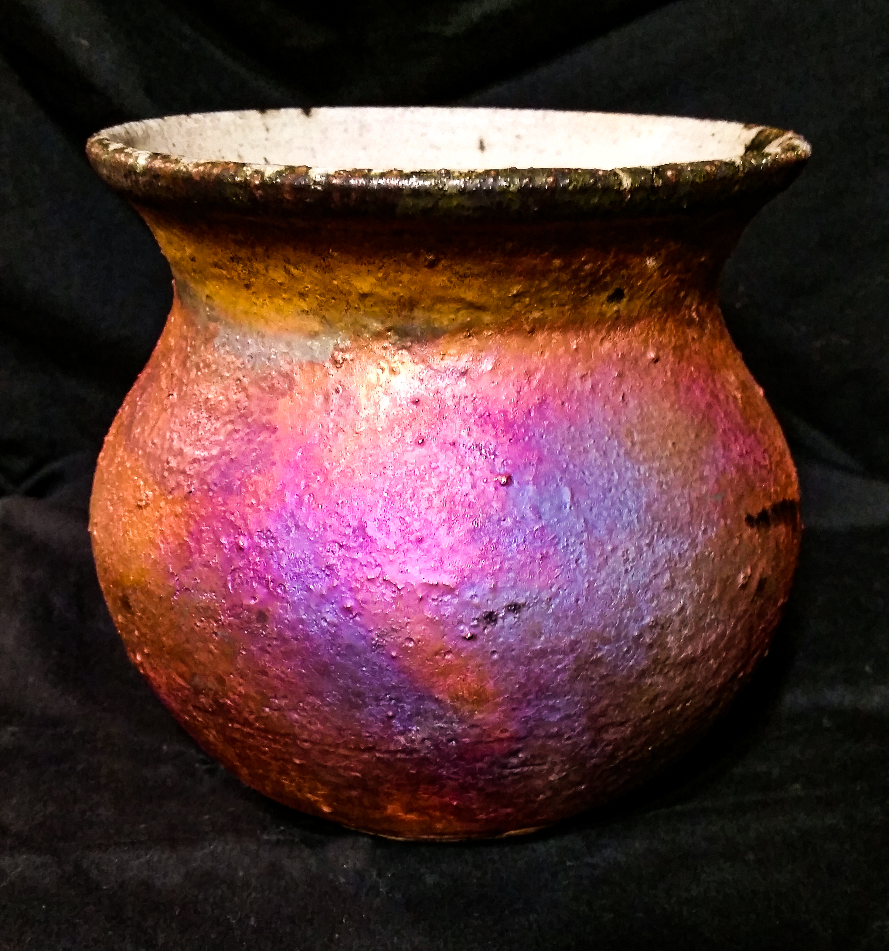 Copper Matte Raku Vessel