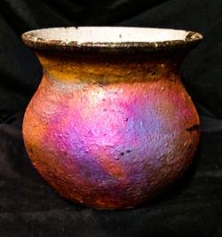 Copper Matte Raku Vessel