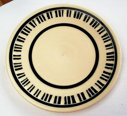 Carved Piano Keys Plate