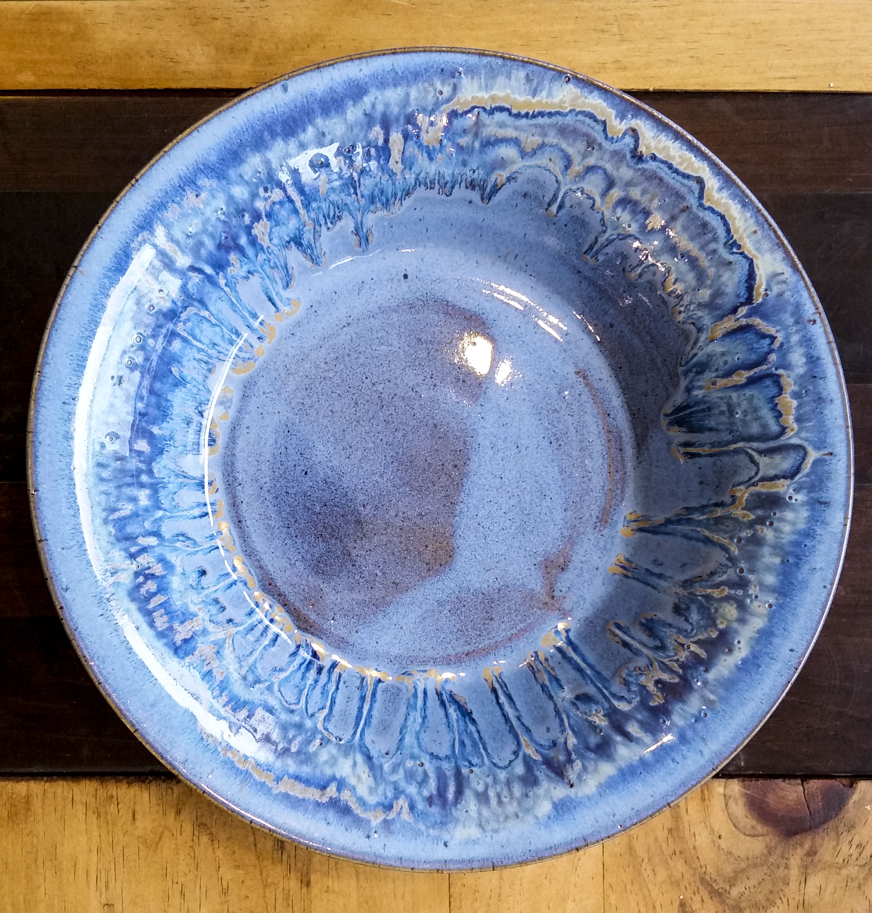 Bowl/Wall Hanging Blue 13 inches