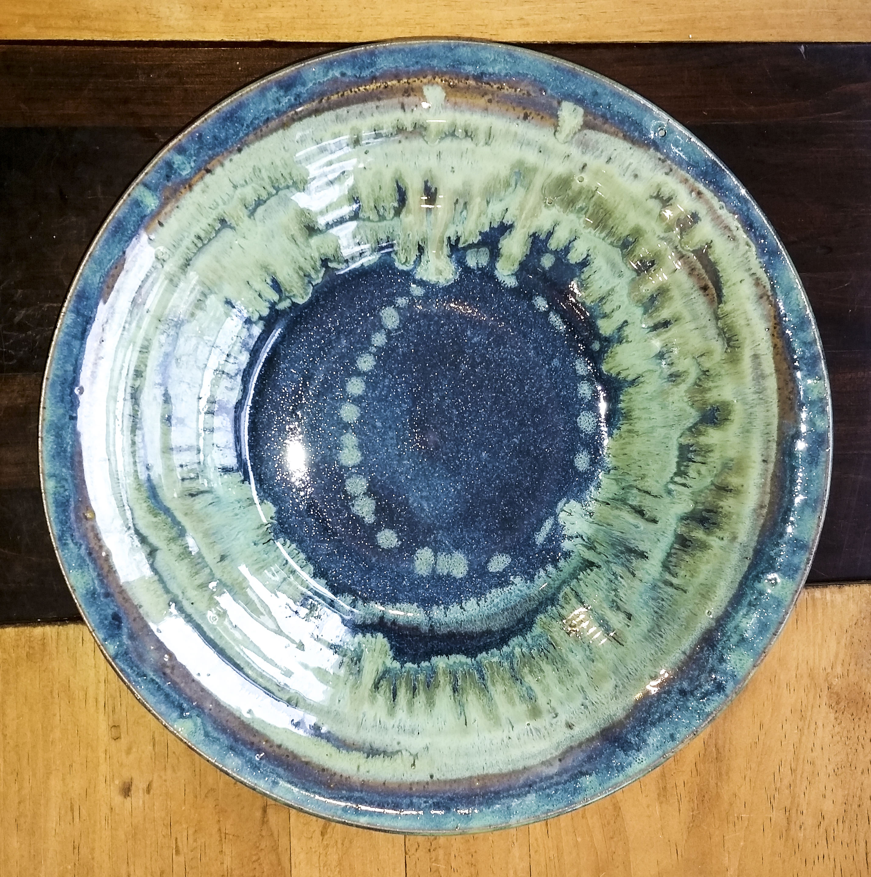 Bowl/Wall Hanging Blue/Green 15 in.