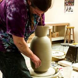 Throwing large vase