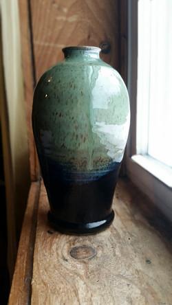 Vase Black/Green