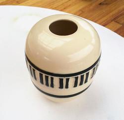 Carved Piano Keys Vase