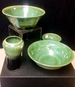 Green Glazed Pieces