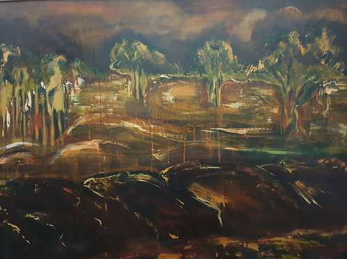 J Beach -After the Fires - Oil on Canvas