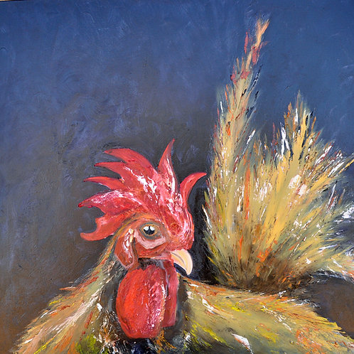 Jenny Beach - When - from year of the Rooster - Oil on Canvas - 92x92