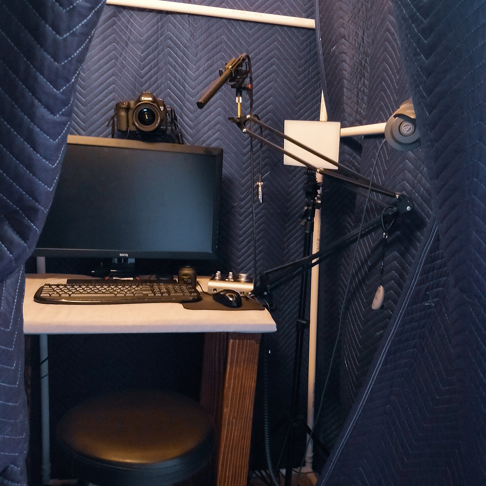 vocal booth, pvc booth, voice over, voice actor, microphone