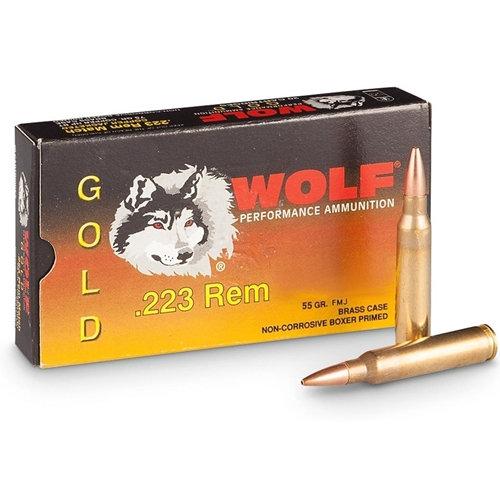 Wolf Gold .223 Rem 55gr FMJ