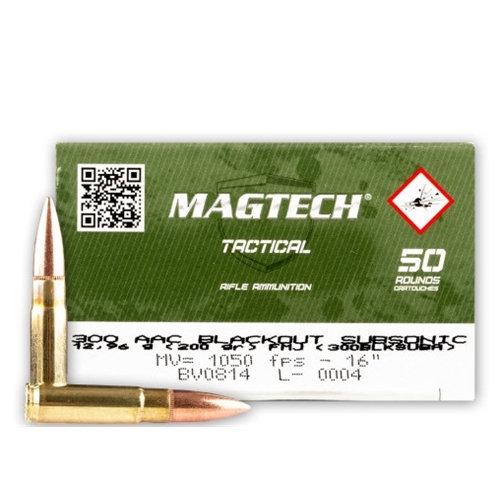 MagTech Tactical 300AAC Blackout 200gr FMJ