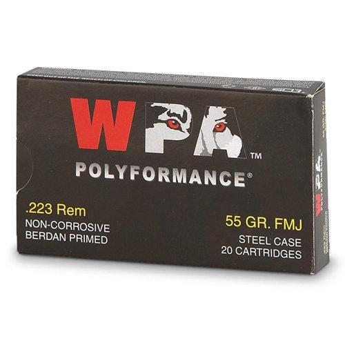 Wolf Poly .223 Rem 55gr FMJ