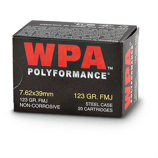 Wolf Poly 7.62x39 123gr FMJ