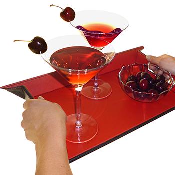 Imagen de una bandeja de servir en polipiel de la marca FreeForm