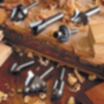 Imagen de varias fresas profesionales para madera marca WPW