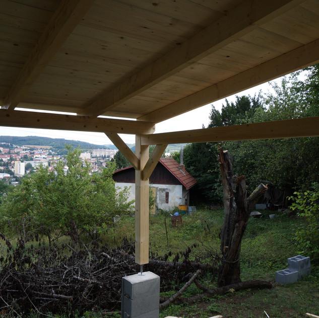 Dřevěná pergola, Blansko