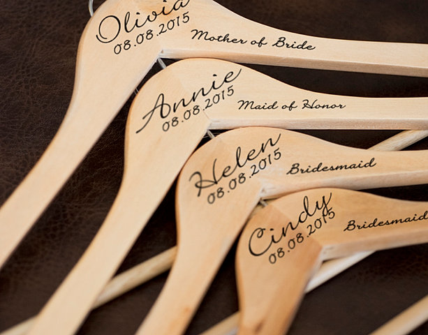 Personalized Wedding Party Cloth Hangers