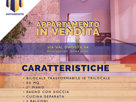 BILOCALE TRASFORMABILE IN TRILOCALE -  ZONA MONTESACRO - VIA VAL D'AOSTA