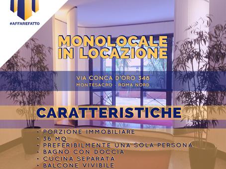MONOLOCALE IN LOCAZIONE -  ZONA MONTESACRO - CONCA D'ORO