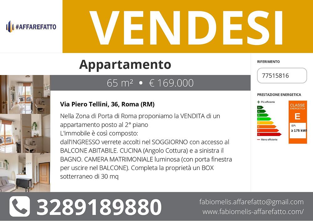 APPARTAMENTO IN VENDITA - PORTA DI ROMA