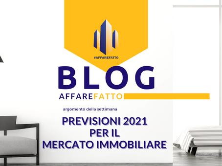 Mercato immobiliare italiano, quali sono le previsioni per 2021?