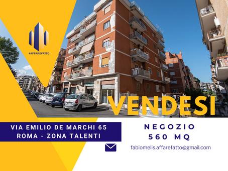 NEGOZIO IN VENDITA  - VIA EMILIO DE MARCHI (ZONA TALENTI)