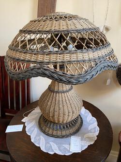 Painted Wicker Lamp
