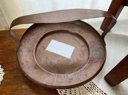Handled Copper Bowl