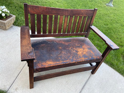 SOLD Gustav Stickley Settee