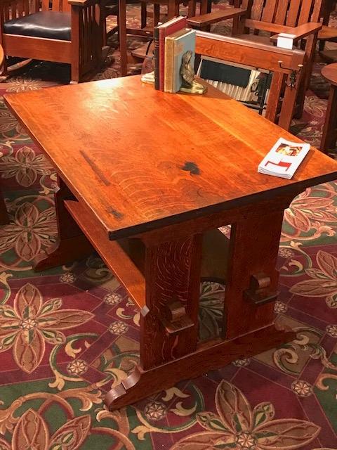L & JG Stickley Trestle Table