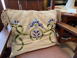 SOLD Embroidered Pillow