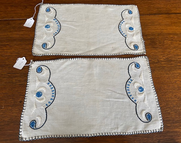 SOLD Blue Rectangular Textiles