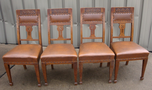 Carved Oak Chairs