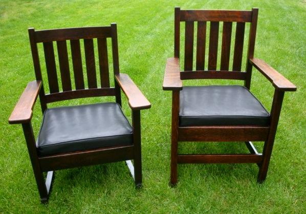 Stickley Brothers Arm Chair & Rocker Set